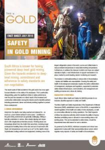 Safety in gold mining
